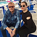 David J and Rose McGowan - photo by T.S.