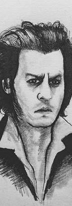 #sketch #portrait #johnnydepp #sweeneyto