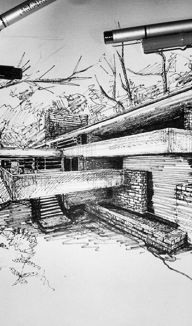 The end #jajmlesart #fallingwater #archi