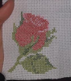 A Cross Stitch Rose - By Aleena