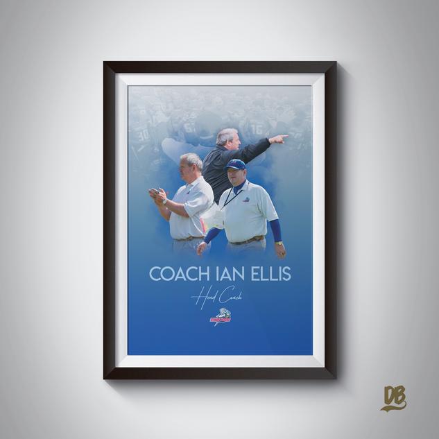 Bespoke poster designed for Sussex Thunder Head Coach Ian Ellis