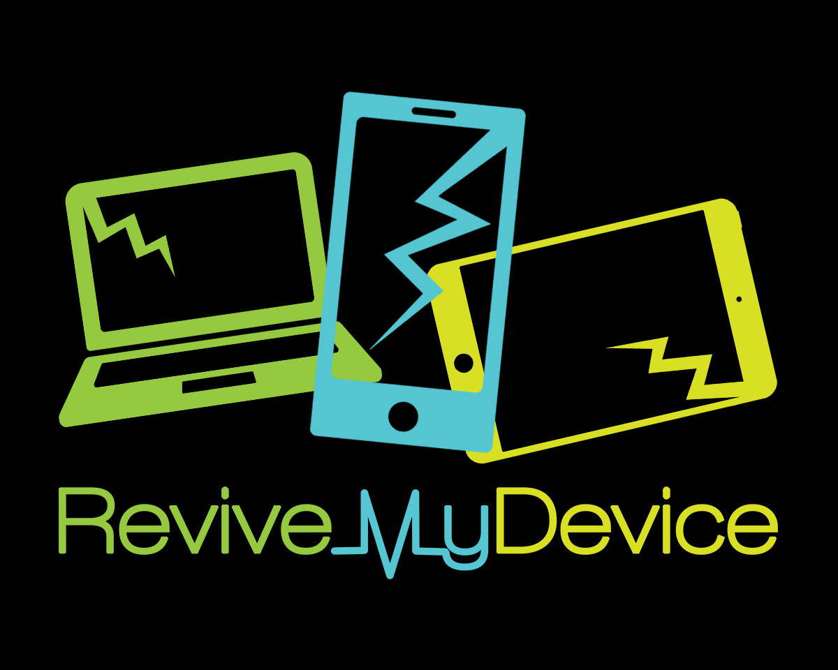 Logo created for London-based electronic device refurbishment company 'Revive My Device'