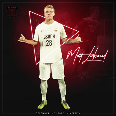 Commitment graphic for NC State University soccer player Matt Lockwood