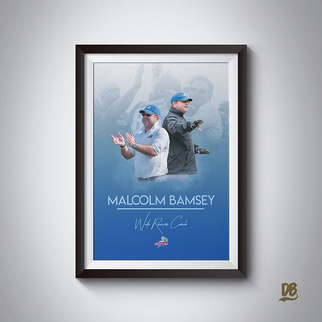 Bespoke poster designed for Sussex Thunder Coach Malcolm Bamsey
