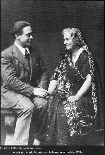 Maria Montessori and Mario Montessori.
