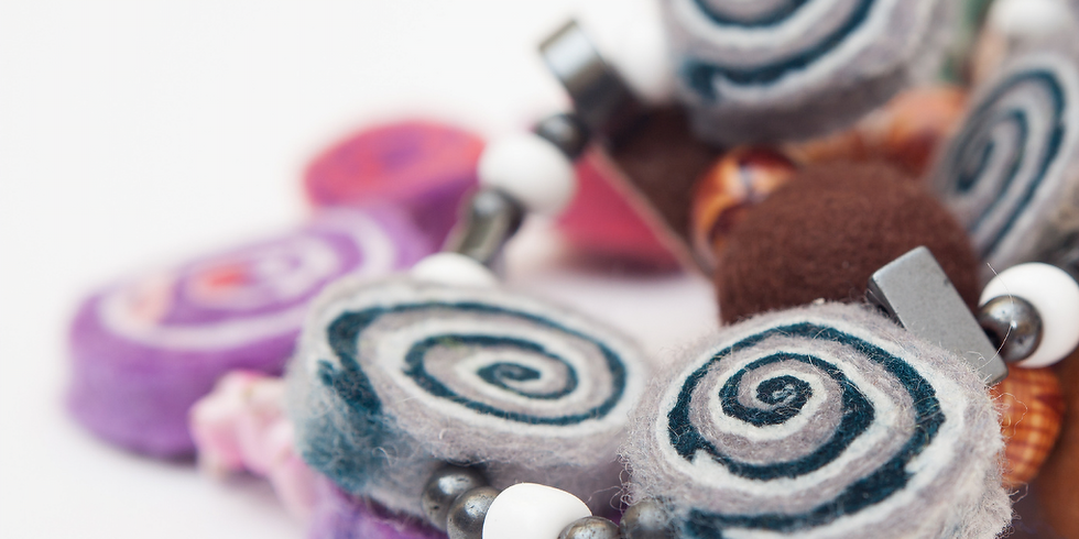 Felt Bead Necklace Making - SOLD OUT