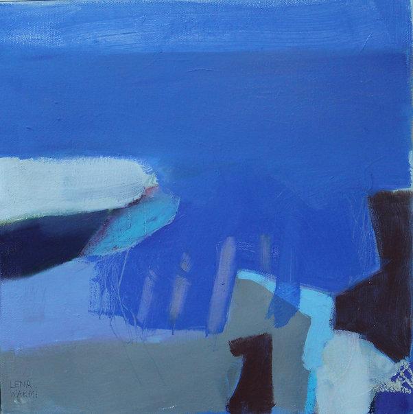 Blå som havet II, 2021, olja på duk, 30x