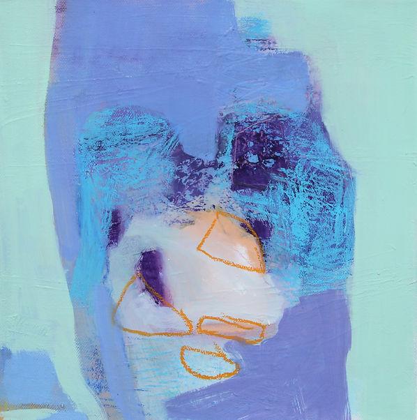 Det stora blå II, 2020 olja på duk, 30x3