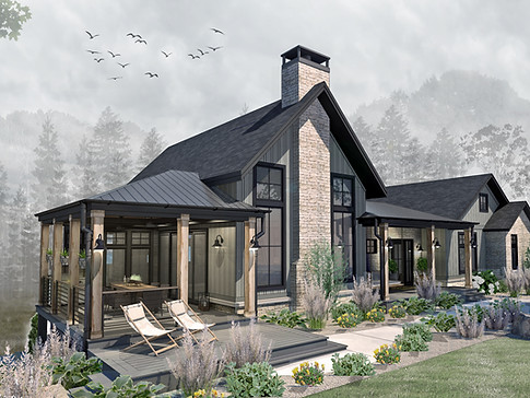 CUSTOM HOME IN THE WOODS