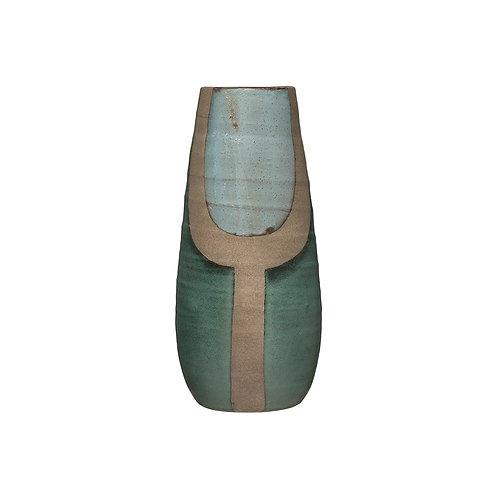 Blue and Turquoise Terra-cotta Vase