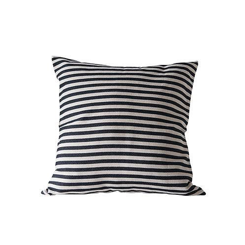 """26"""" Blk/Wht Stripe Pillow"""