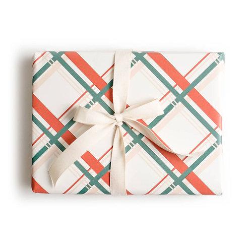 Vintage Plaid Holiday Gift Wrap