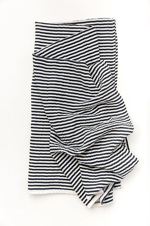 Black and White Striped Swaddle