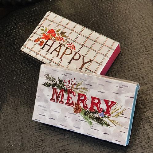 Happy & Merry Matchbox