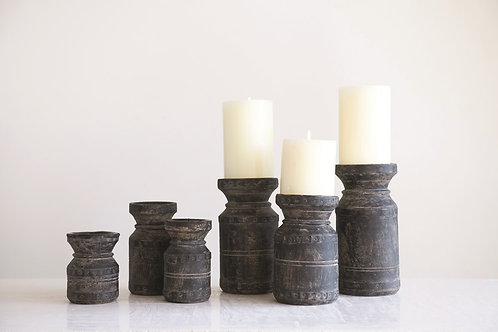 Found Candle Holder