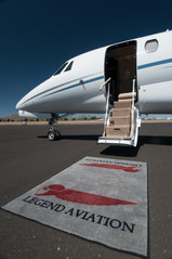 Jet with welcome rug.jpg