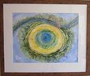 Birdseye abstract Port Meadow watercolou