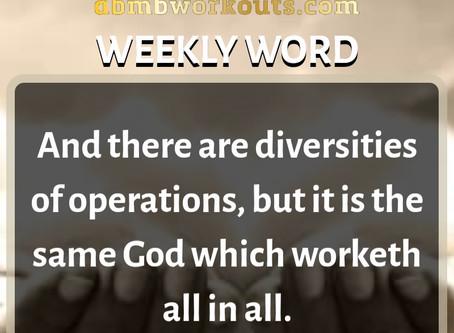 'Weekly Word' January 19th- January 25th