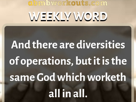 'Weekly Word' January 19th- January 25th