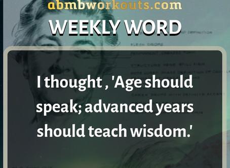 'Weekly Word' January 12th- January 18th