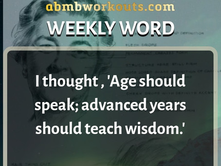 'Weekly Word' January 12th- January 18th
