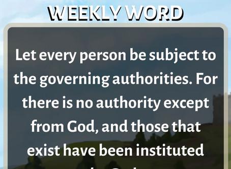 'Weekly Word' February 16th- February 22nd