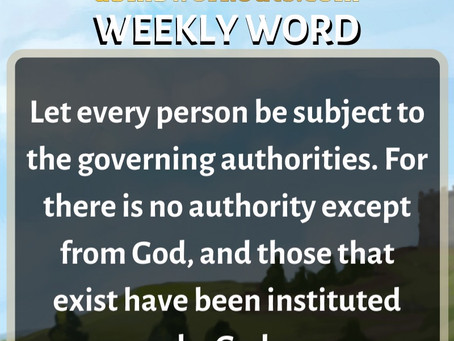 'Weekly Word' February 16th- February 22nd