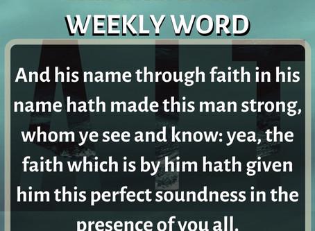 'Weekly Word' February 9th- February 15th