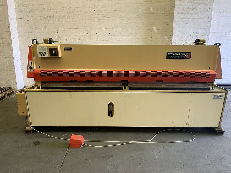 Edwards Pearson 3m Hydraulic Sheet Metal Guillotine