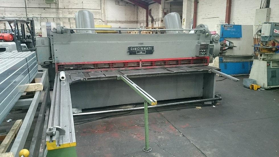 Cincinnati Mechanical SheetMetal Guillotine 3m x 5mm