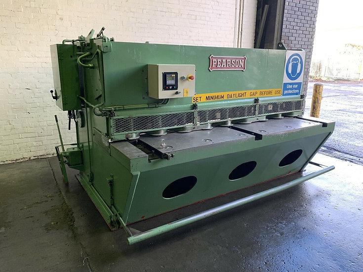 Pearson 10mm Hydraulic Shear  Capacity: 2.5m x 10mm  With:  Programmable Backgau