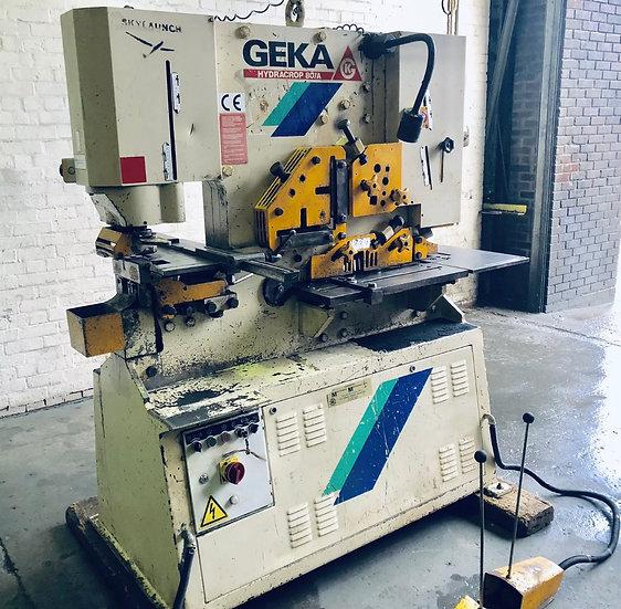Geka Hydracrop model HYD 80  Hydraulic Universal Iron Worker