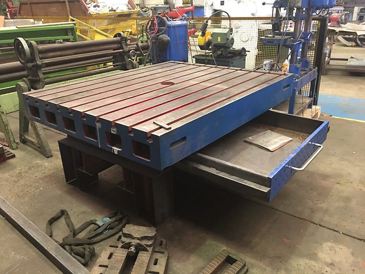 """Engineering """"T"""" Slotted Table  On stand (1800mm x 1500mm)"""