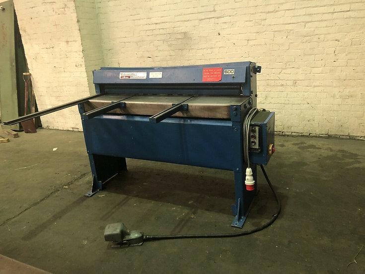 Edwards Minishear Powered Guillotine.  Capacity