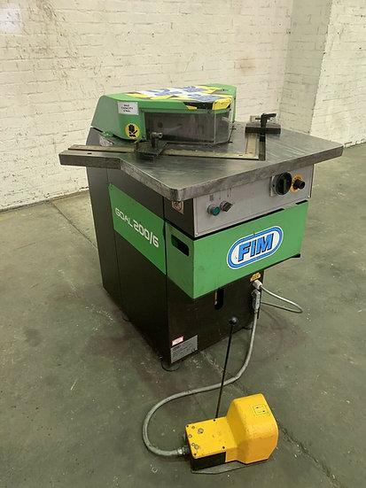 FIM model GOAL 200/6 Hydraulic Corner Notcher