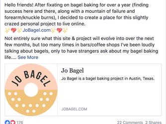 Jo Bagel is a year old!