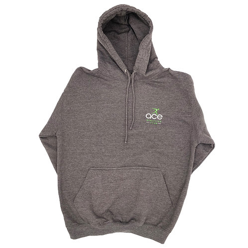 Grey Hoodie with Ace Logo Men's