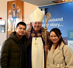 Hongfu and Min with the Archbishop.jpg