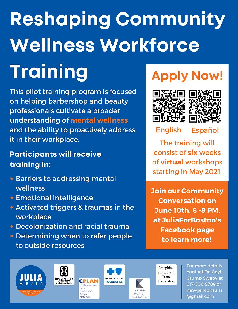 Reshaping  Community Wellness Workforce-