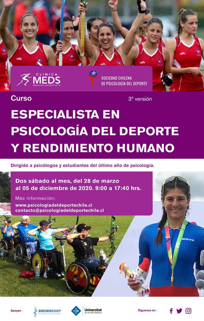 Inscripciones abiertas — 3ª versión Curso: Especialista en psicología del deporte y rendimiento huma