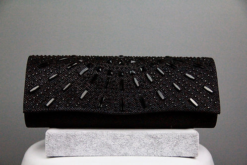 Black Jeweled Clutch Bag