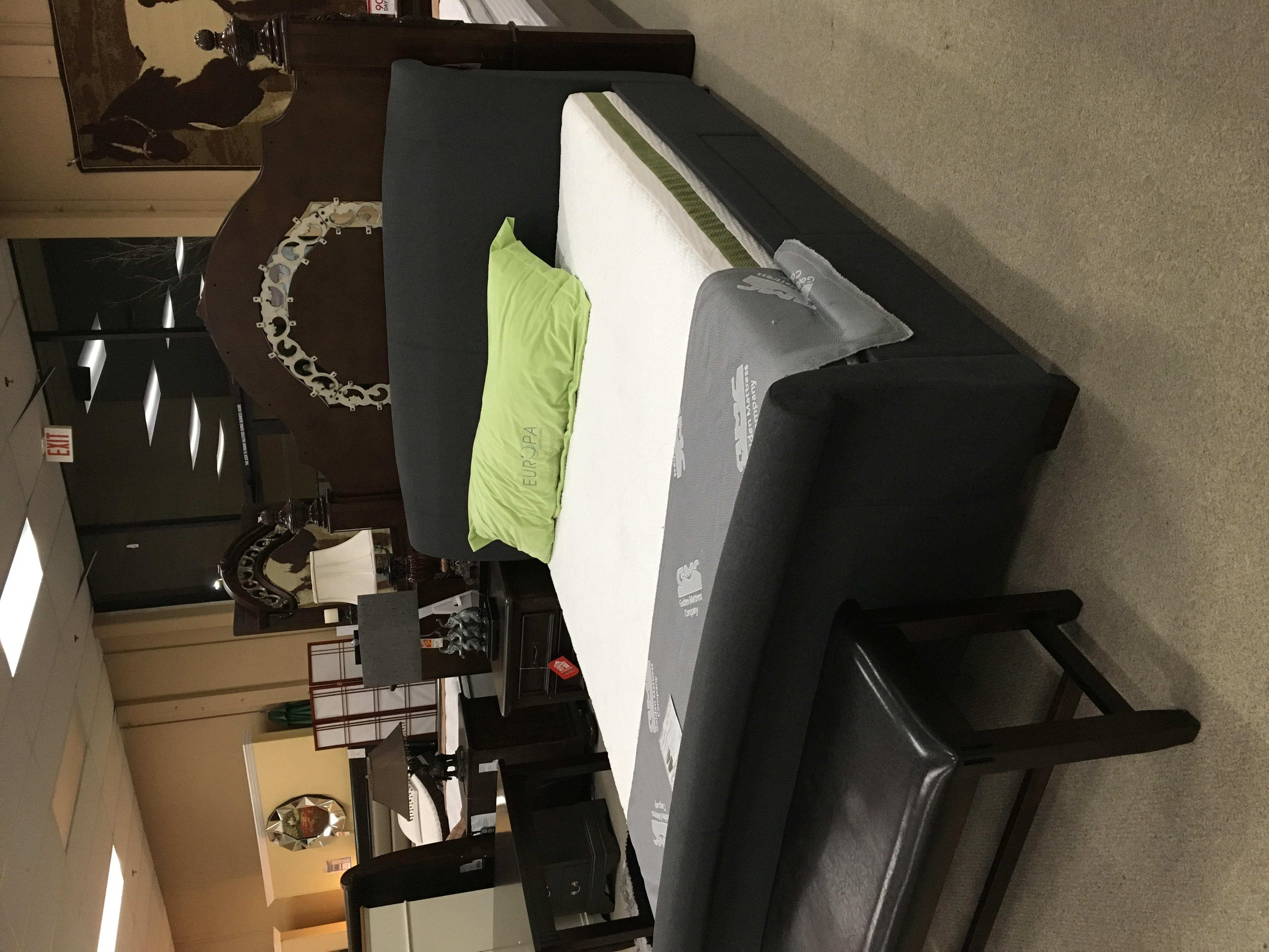 King Storage bed $450