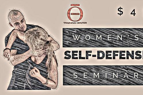 Women's Self Defense Seminar (May 1st) 9-11 A.M.