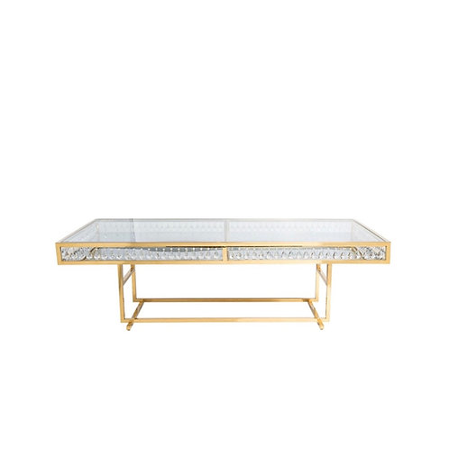 GOLD CRYSTAL TABLE