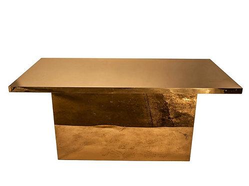 GOLD ACRYLIC TABLE