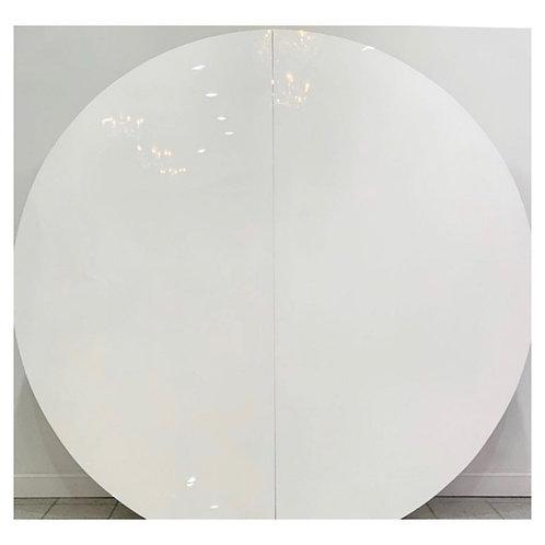WHITE ROUND WALL