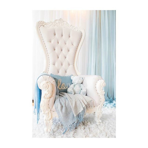 White Throne Chair