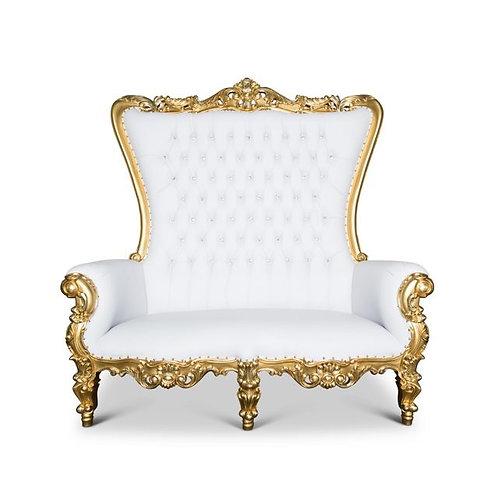 Gold Throne Loveseat