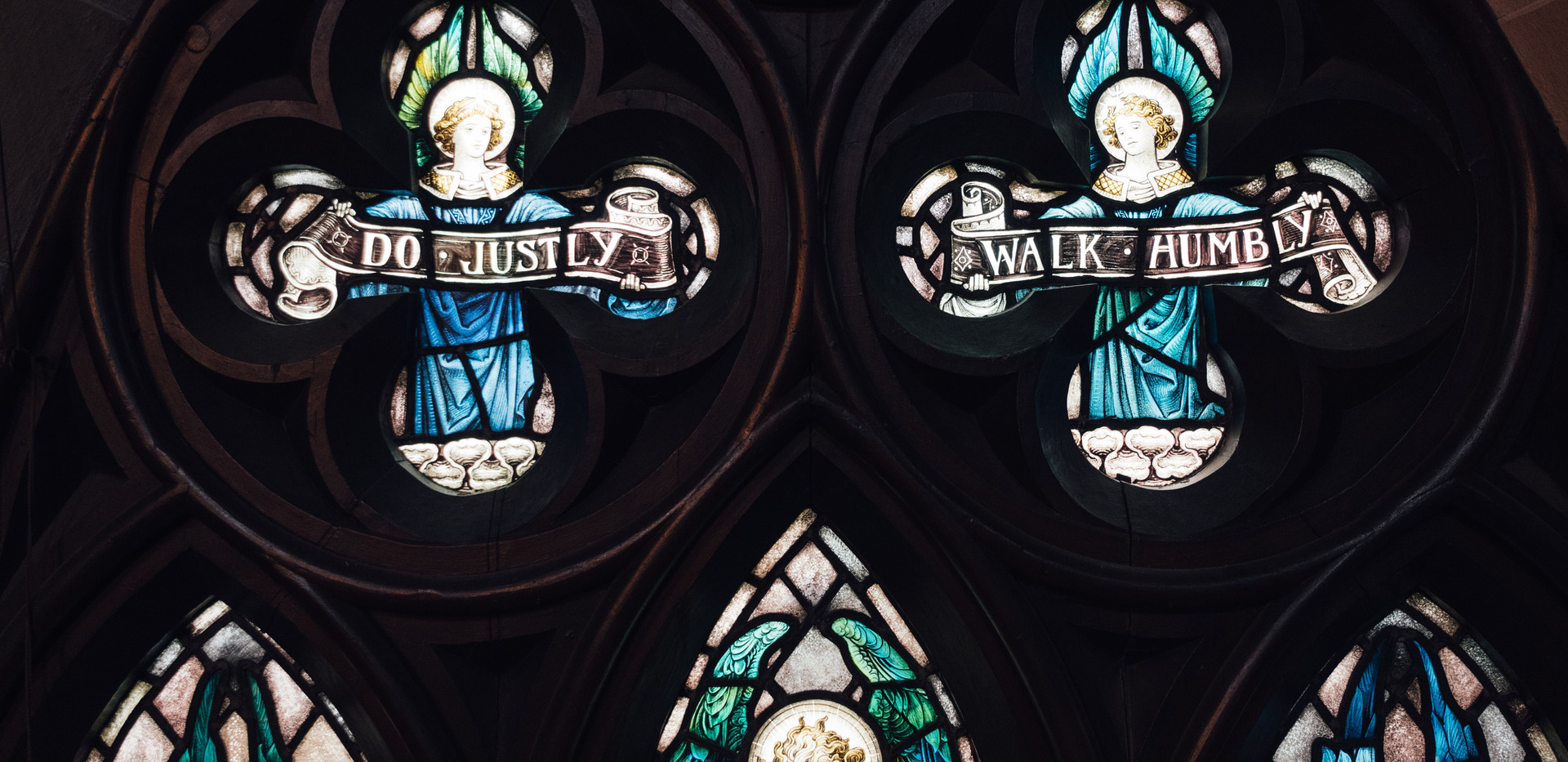 stained glass closeup