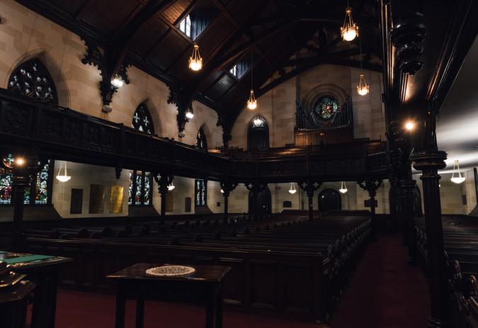 full lit sanctuary